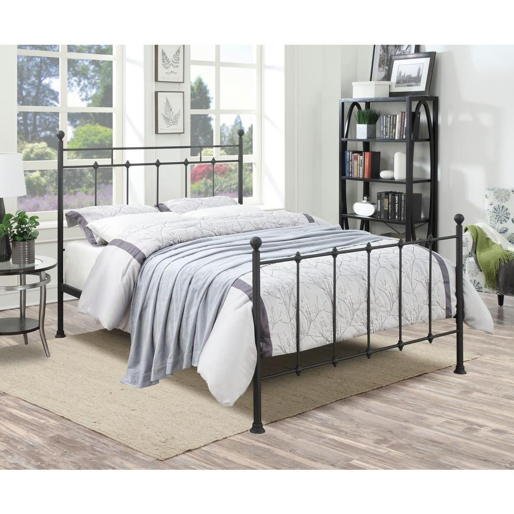 PRI All In 1 Black Queen Bed Frame