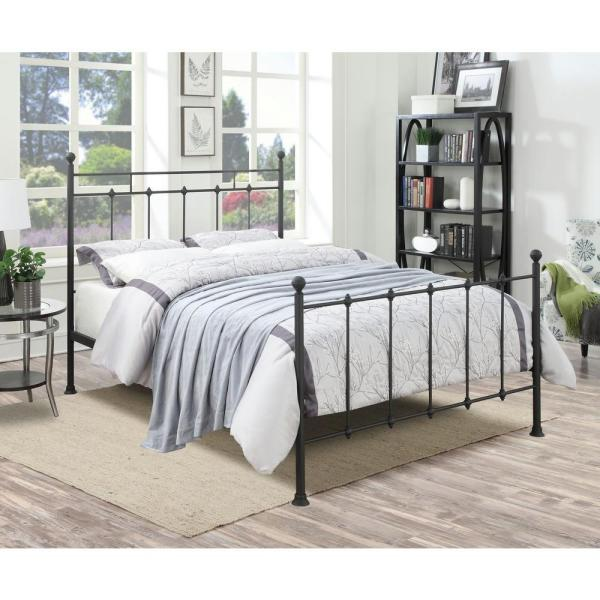 All In 1 Black Queen Bed Frame