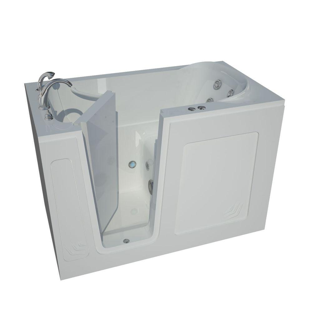 Universal Tubs 4.5 ft. Left Drain Walk-In Whirlpool Bathtub in White ...