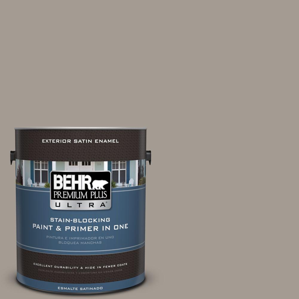 BEHR Premium Plus Ultra 1-gal. #BXC-54 River Pebble Satin Enamel Exterior Paint
