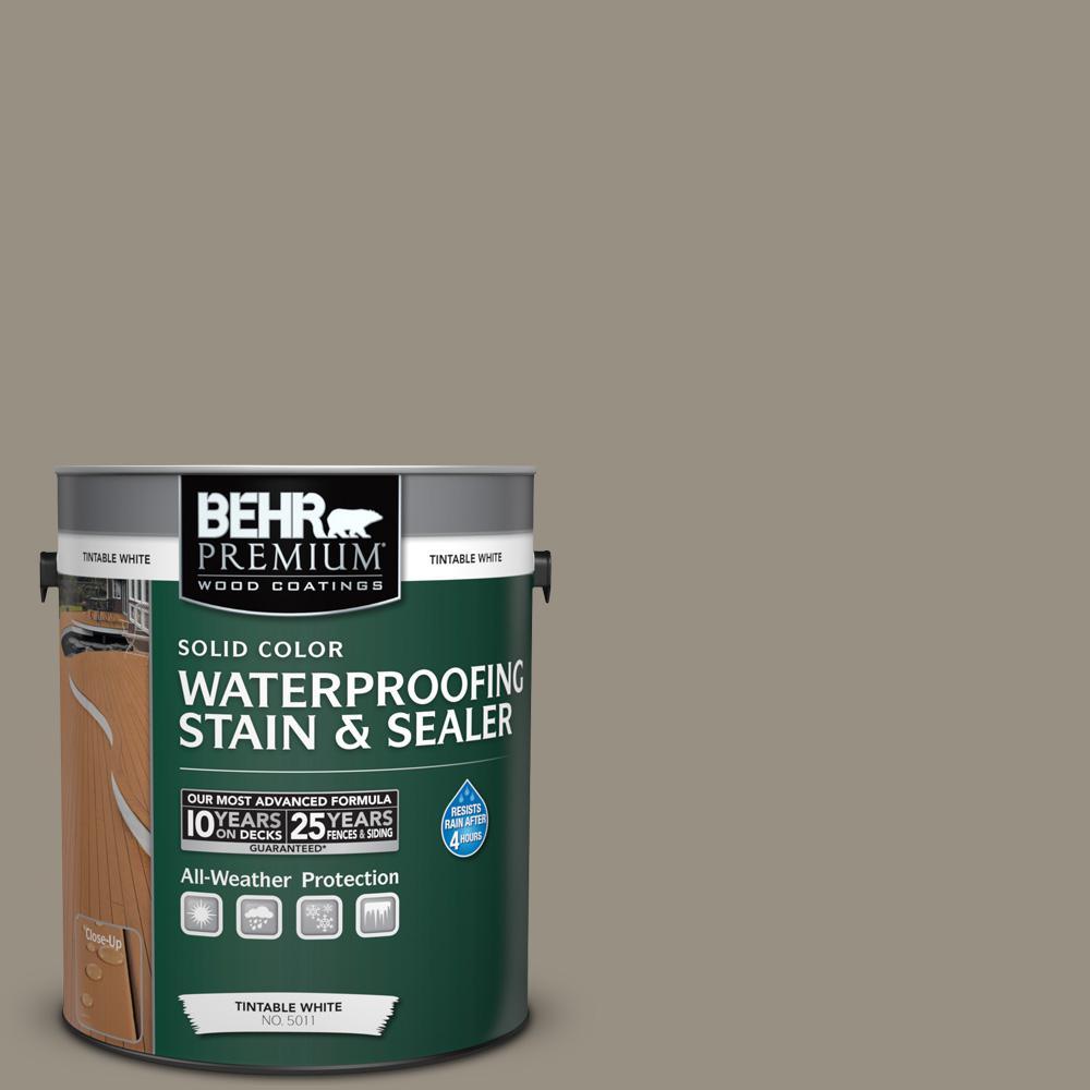 1 gal. #N320-5 Gray Squirrel Solid Waterproofing Stain and Sealer