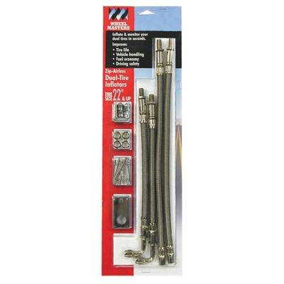 """Airless Steel Hose Extenders For 16""""-19.5"""" Wheel Liners & Covers - 2 Hose Kit, Hand Hole Mount"""