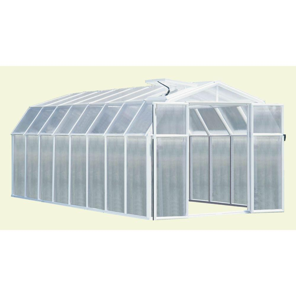 Rion Hobby 8 ft. 6 in. x 16 ft. 8 in. Premium Package White Frame Greenhouse-DISCONTINUED