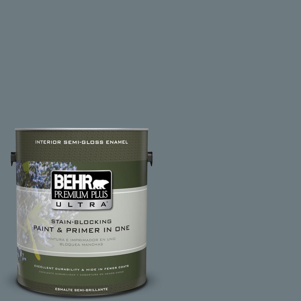 1 gal. #PPU25-19 Ocean Swell Semi-Gloss Enamel Interior Paint