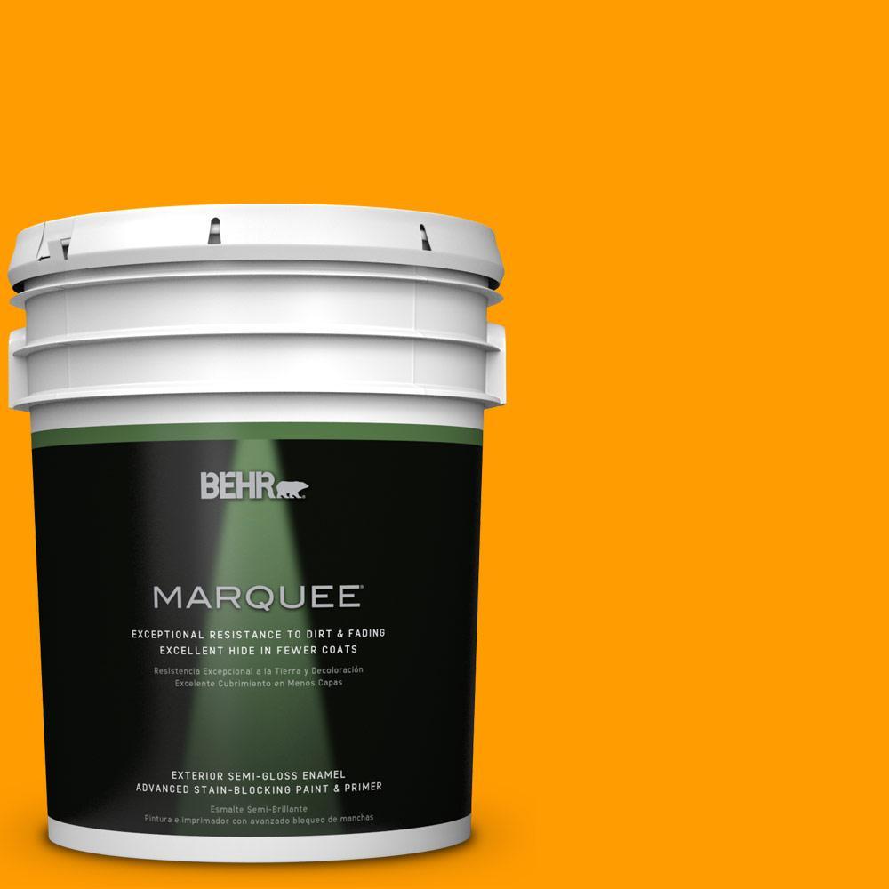 BEHR MARQUEE 5-gal. #S-G-290 Orange Peel Semi-Gloss Enamel Exterior Paint