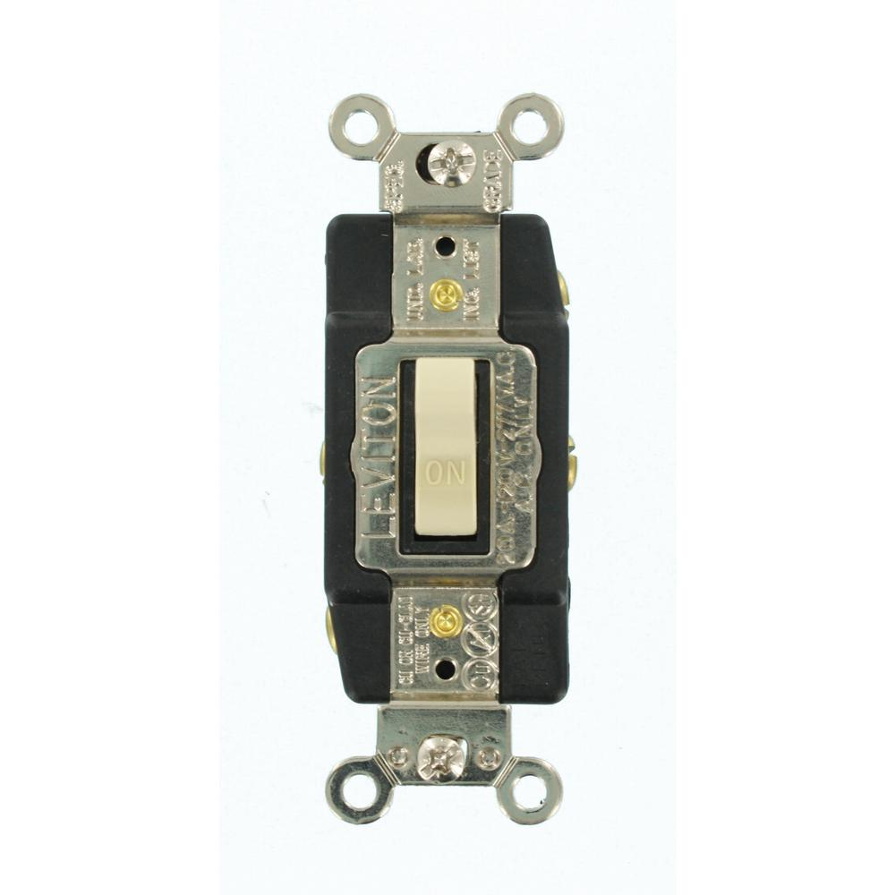 Leviton 20 Amp Industrial Grade Heavy Duty Double-Pole Double-Throw  Center-Off