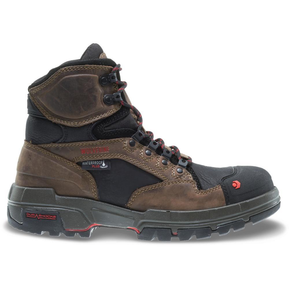 "Men's Legend Size 8.5M Dark Brown Full-Grain Leather Waterproof Composite Toe 6"" Boot"
