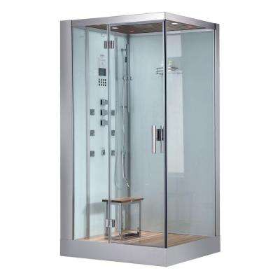 47 in. x 35.4 in. x 89.1 in. Steam Shower Enclosure Kit in White