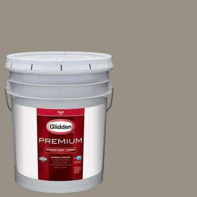 5 gal. #HDGWN51D Stone Castle Greige Flat Interior Paint with Primer