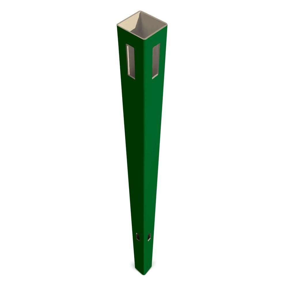 Veranda Pro Series 5 in. x 5 in. x 8-1/2 ft. Green Vinyl Anaheim Heavy Duty Routed Fence Corner Post