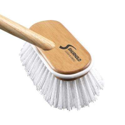 6 in. Deck Brush Extra Stiff White Polypropylene