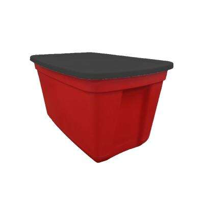 20 Gal. Storage Tote Red Base/Black Lid