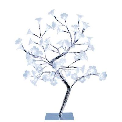 17.72 in. Morning Glory LED Lighted Silver Decorative Tree Lamp