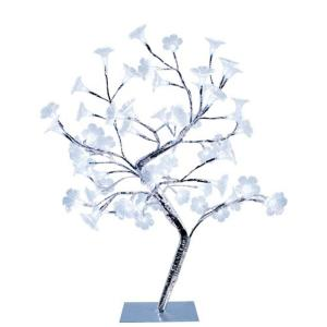 Simple Designs 17.72 inch Morning Glory LED Lighted Silver Decorative Tree Lamp by Simple Designs