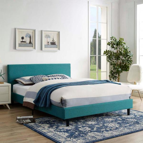 Anya Teal Queen Bed