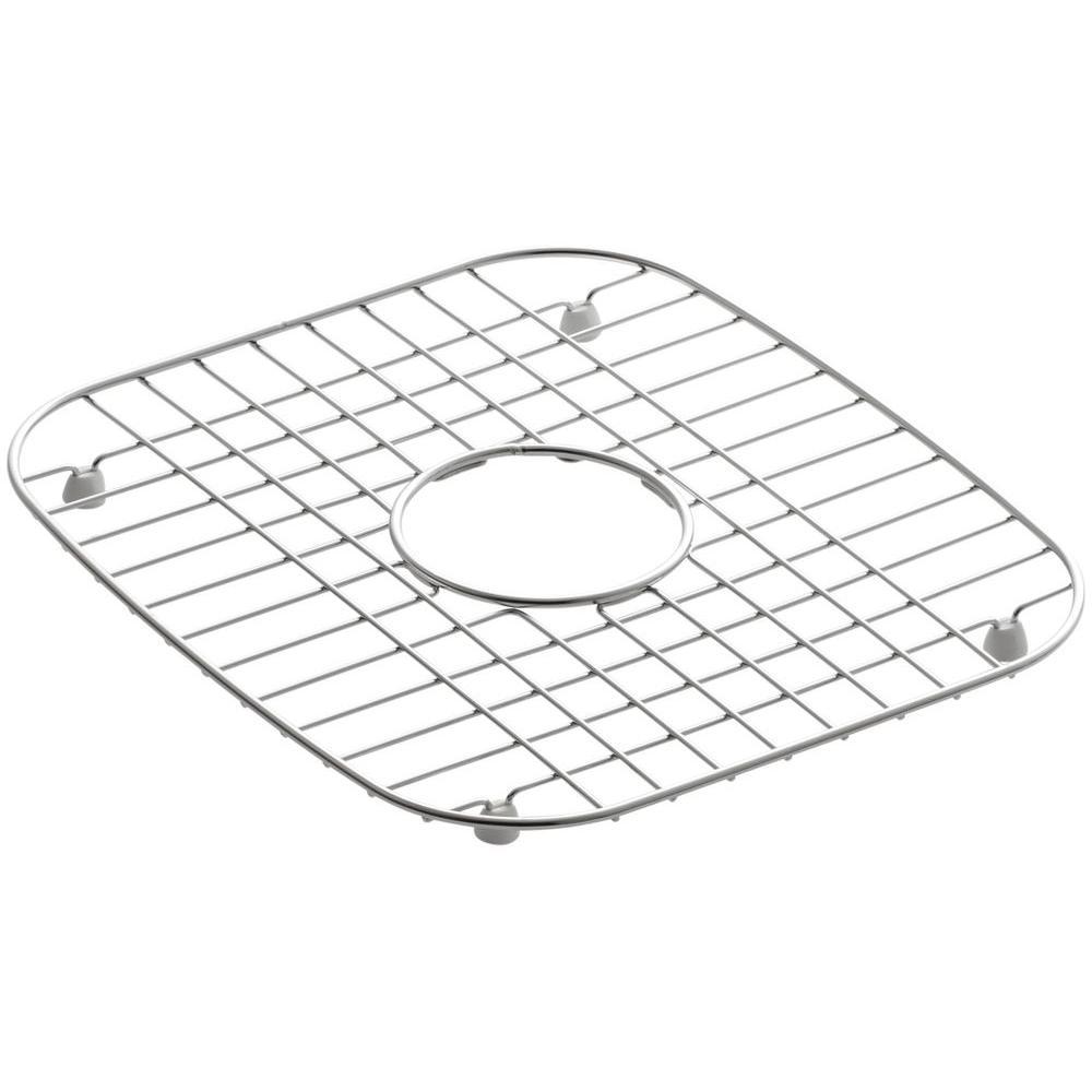 KOHLER Undertone 12-1/4 in. x 13-3/4 in. Bottom Sink Basin Rack in Stainless Steel