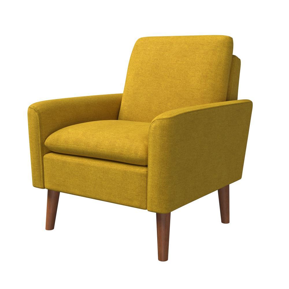 Bari Goldenrod Modern Arm Chair