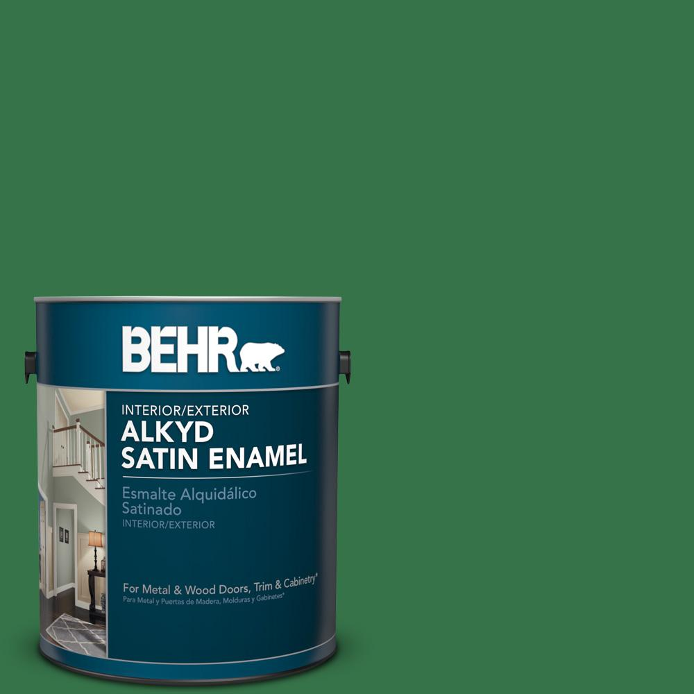 1 gal. #P410-7 Grasslands Satin Enamel Alkyd Interior/Exterior Paint