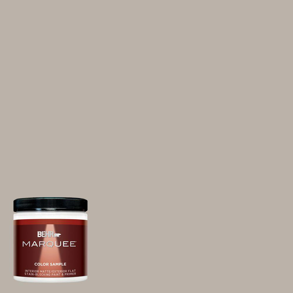 BEHR MARQUEE 8 oz. #MQ2-55 Park Avenue One-Coat Hide Matte Interior/Exterior Paint and Primer in One Sample