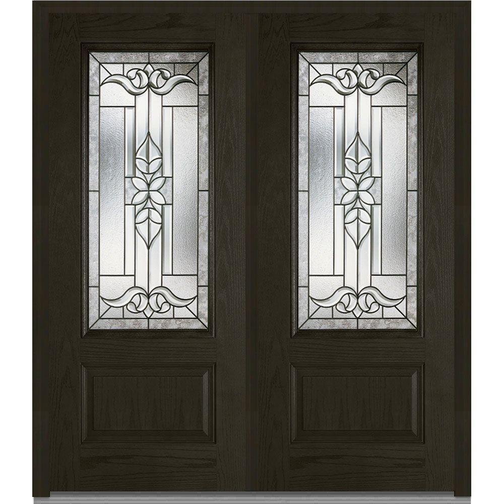 MMI Door 74 In. X 81.75 In. Cadence Decorative Glass 3/4