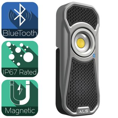 600 Lumens LED Rechargeable Bluetooth Handheld Audio Light with Magnetic Base