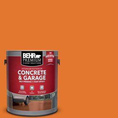 1 gal. #OSHA-3 OSHA SAFETY ORANGE Self-Priming 1-Part Epoxy Satin Interior/Exterior Concrete and Garage Floor Paint