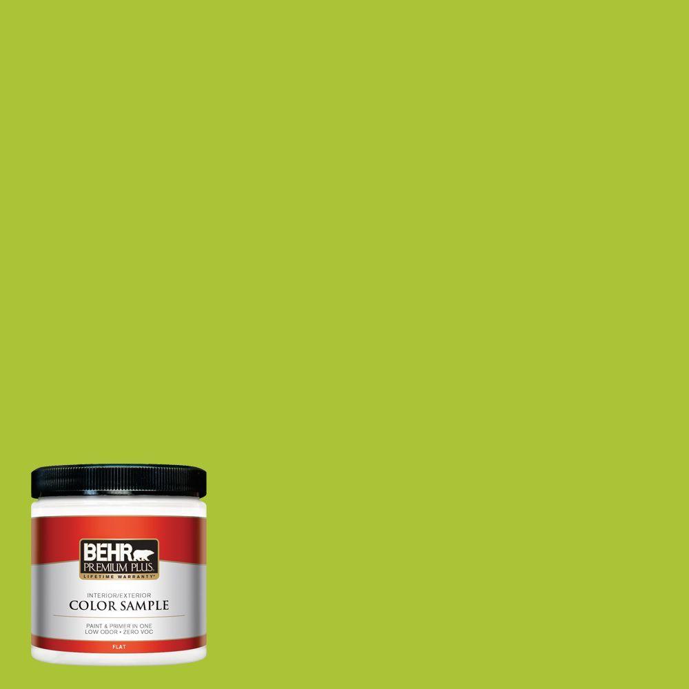 BEHR Premium Plus 8 oz. #410B-6 Crisp Green Interior/Exterior Paint Sample