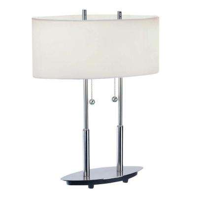 20 in. Polished Steel Table Lamp