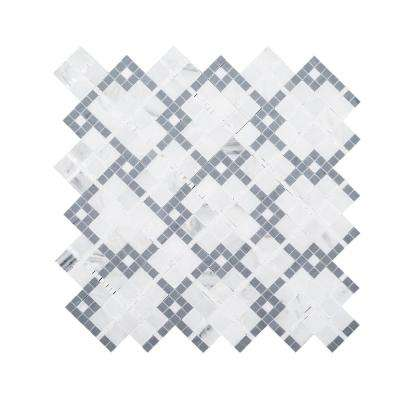 Madras Cotton Gray 12.5 in. x 12.5 in. x 8 mm Natural Stone Mosaic Floor and Wall Tile