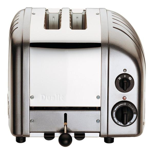 New Gen 2-Slice Charcoal Wide Slot Toaster with Crumb Tray