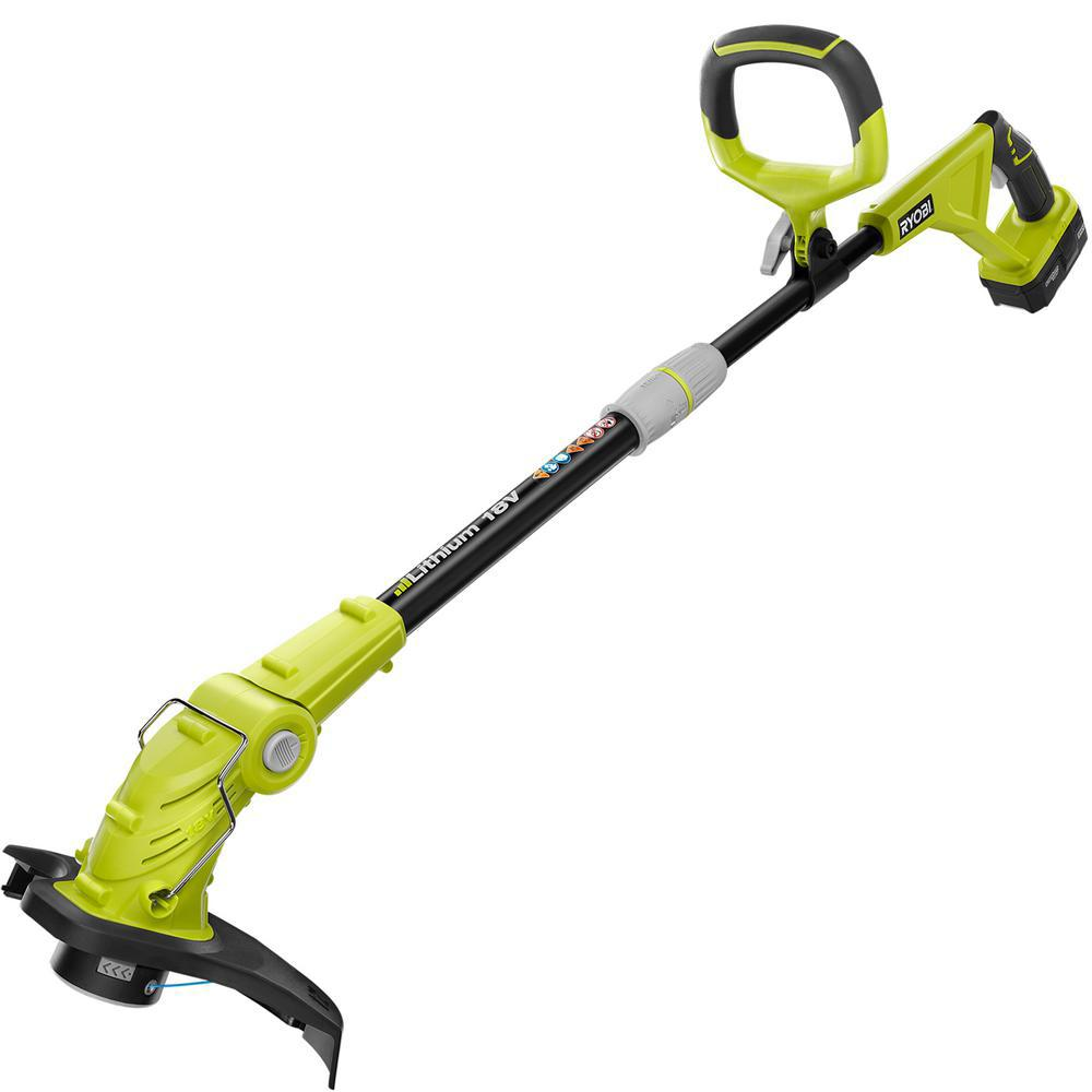 Ryobi Reconditioned ONE+ 12 in. 18-Volt Lithium-Ion Cordless String Trimmer/Edger - 1.3 Ah Battery and Charger Included