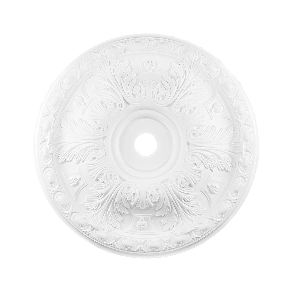 Titan Lighting 36 in. White Ceiling Medallion