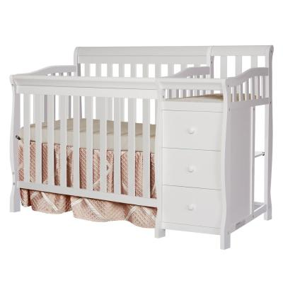 Jayden White 4-in-1 Mini Convertible Crib and Changer