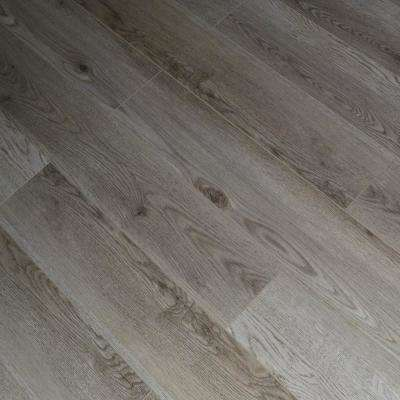 Brushed Oak 12 mm Thick x 5.71 in. Wide x 48 in. Length Click-Locking Laminate Flooring Planks (13.27 sq. ft. / case)
