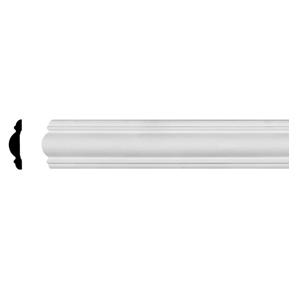 1-1/4 in. x 4-3/4 in. x 94-1/2 in. Polyurethane Kepler Chair Rail Moulding
