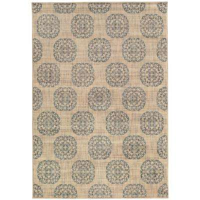 Essex Medallion Slate 9 ft. 6 in. x 12 ft. 2 in. Area Rug