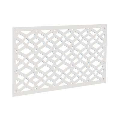 4 ft. x 2 ft. White Celtic Polymer Decorative Screen Panel