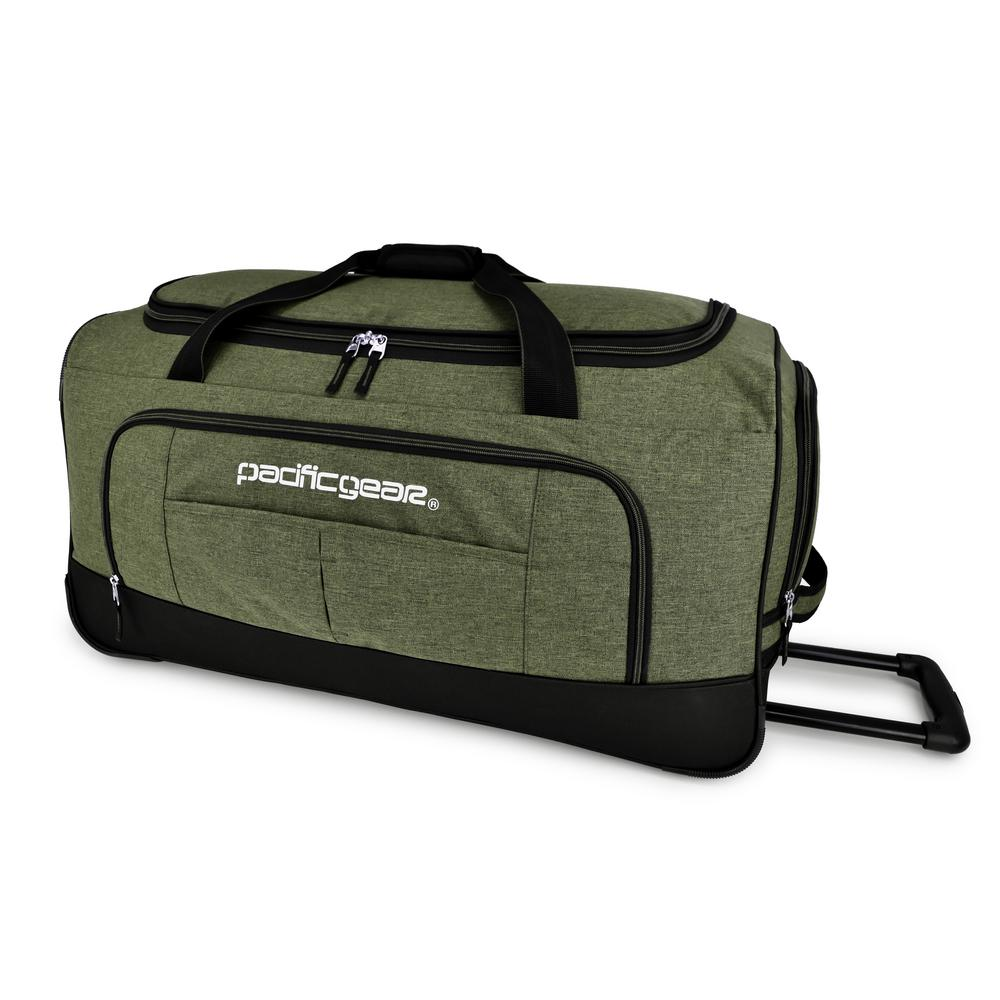 311e4255c5f4 Traveler s Choice Keystone 30 in. Rolling Olive Duffel Bag-PG03068E ...