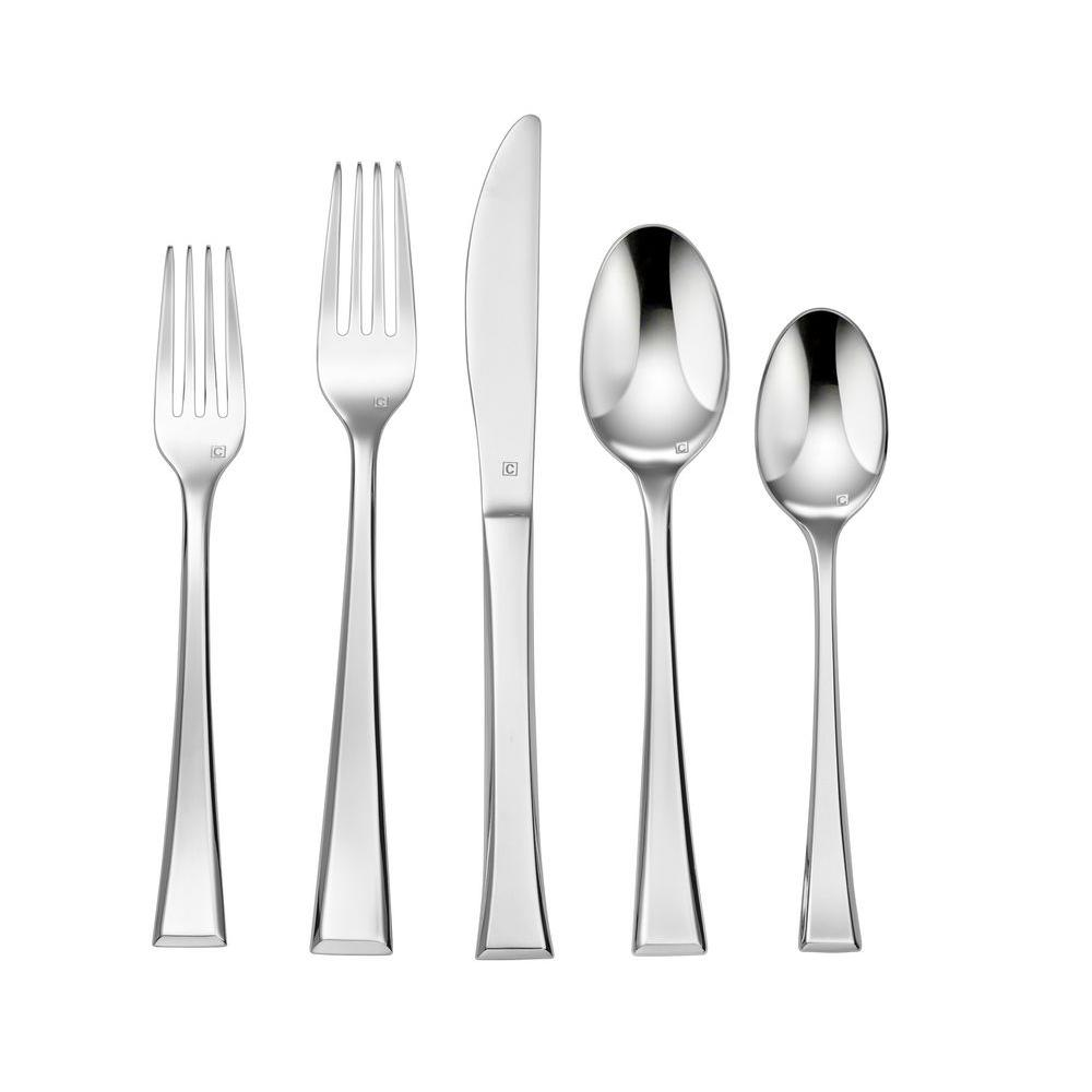 Elite Divonne Collection 20-Piece Flatware Set in Silver