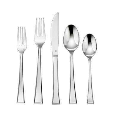 Elite Divonne Collection 20-Piece Flatware Set in Silver