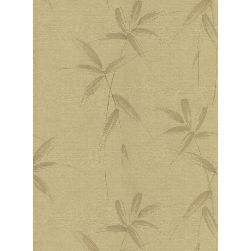 Kitchen and Bath Resource II Gold Bamboo Spray Wallpaper Sample