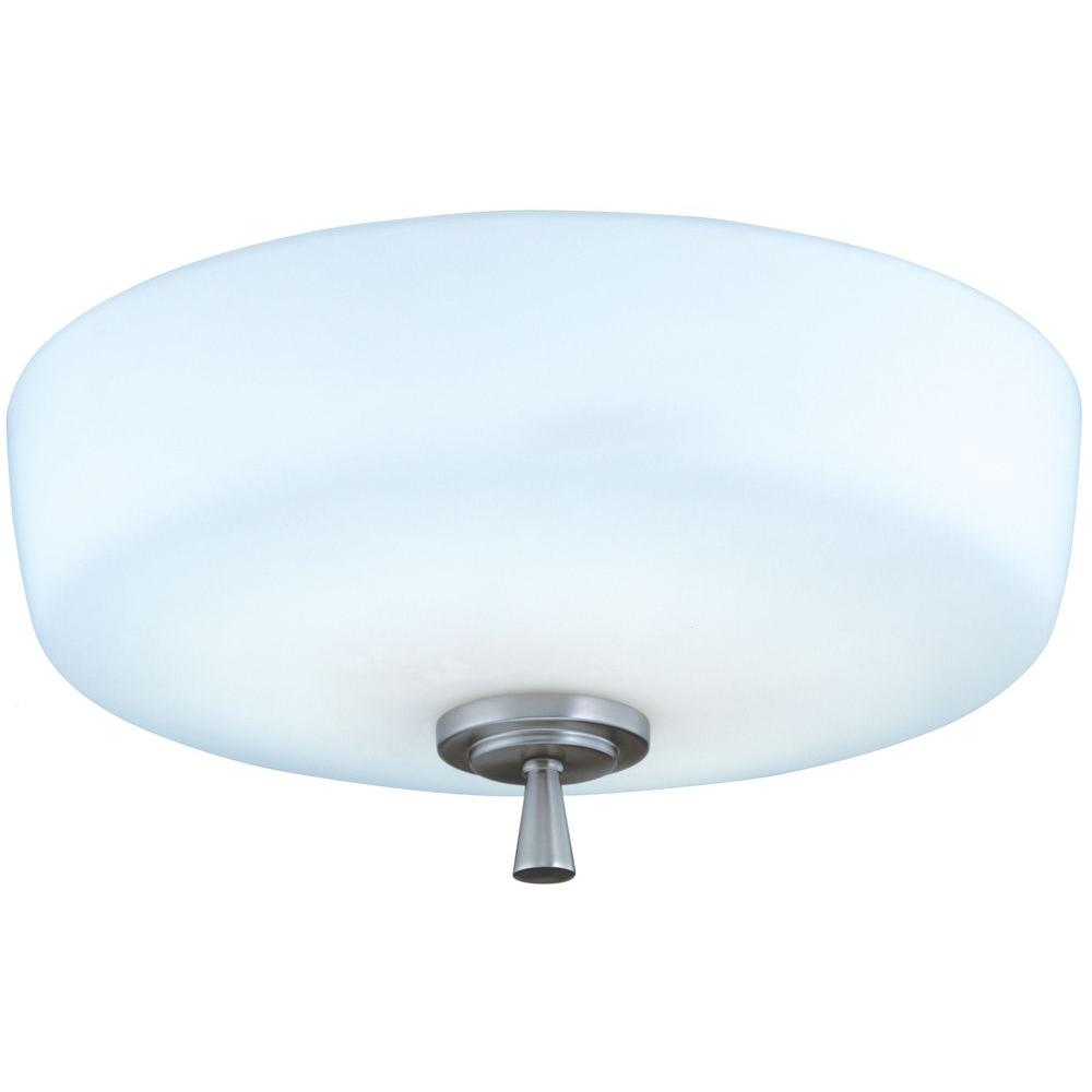 K M Lighting Chittagong: Lithonia Lighting Ferros 1-Light Brushed Nickel Flush/Semi