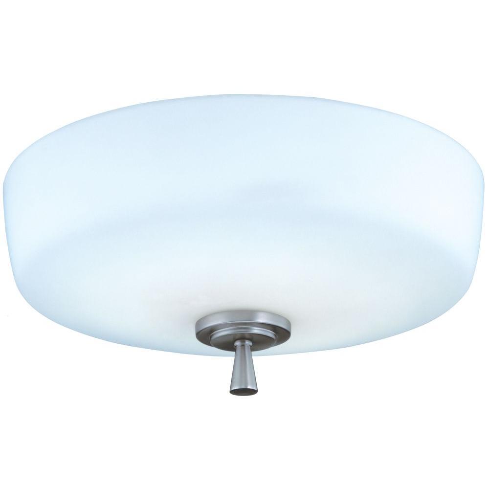lithonia lighting ferros 1 light brushed nickel flush semi flush