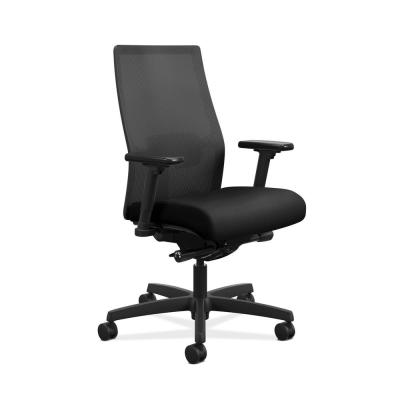 Ignition 2.0 Mesh Back Task Chair in Black with Adjustable Arms and Adjustable Lumbar Support