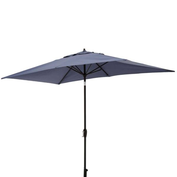 10 Ft X 6 Aluminum Patio Umbrella