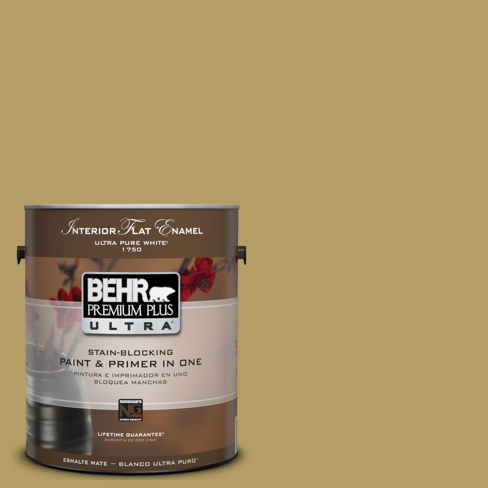 BEHR Premium Plus Ultra 1-Gal. #UL180-6 Chameleon Interior Flat Enamel Paint