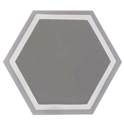 Cemento Hex Holland Strait 7-7/8 in. x 9 in. Cement Handmade Floor and Wall Tile