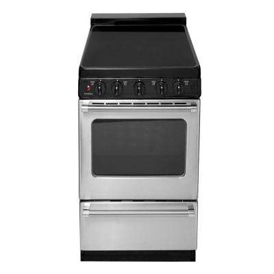 20 in. 2.42 cu. ft. Freestanding Smooth Top Electric Range in Stainless Steel