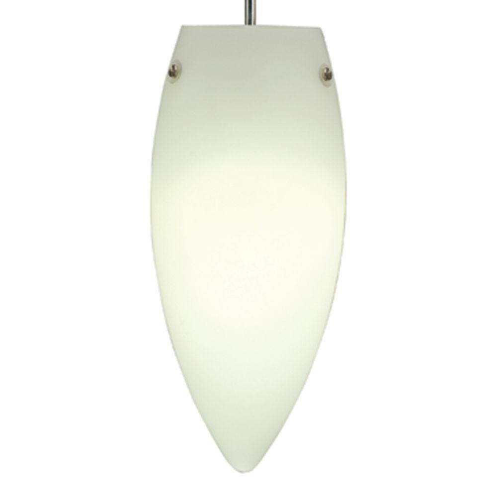 Juno 1-Light Opal LED Pendant Kit Flame