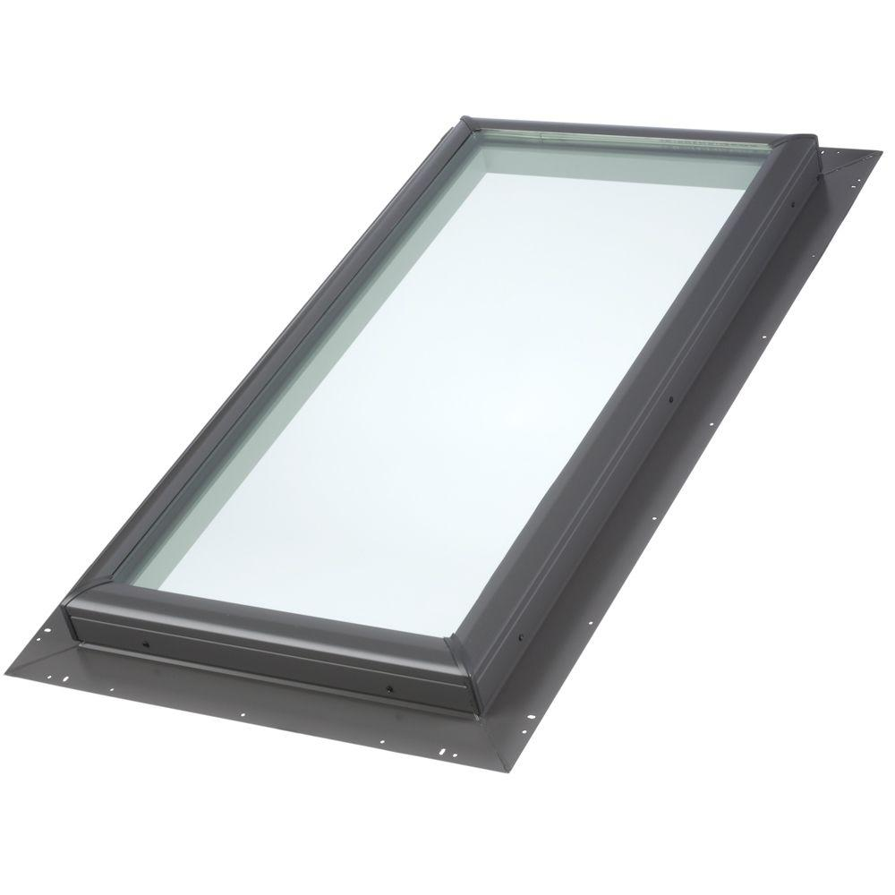 Velux 22 1 2 in x 30 1 2 in fixed pan flashed skylight for Velux glass